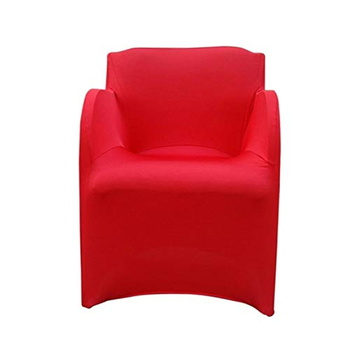 XIAOXINGXING Weiches Stretch Arm Chair Covers Spandex Armchair Cover Hochzeit Party Chair Cover Schonbezüge for Sessel Stretch (Color : Red, Specification : 73x55CM)