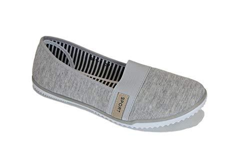 Frentree Damen Sportliche Ballerinas Bequeme Sneaker Slip-Ons, Größe:39, Farbe:grau