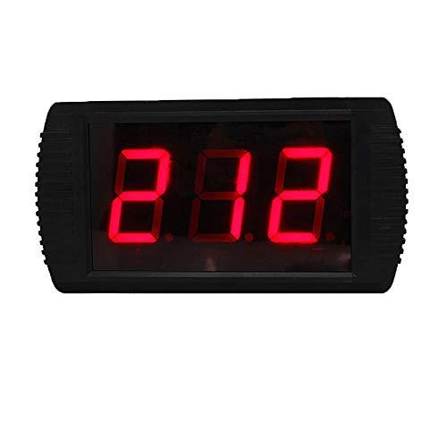 WyaengHai Countdown-Uhr Indoor-Fitness-Training Intervall-Timer Uhr Timer Fern Stadion Mit Fernbedienung Geeignet für Fitness-Studio Fitness (Farbe : Schwarz, Größe : 30X16X4CM)