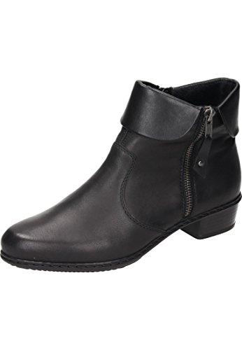 Rieker Damen Y07A8 Kurzschaft Stiefel, Schwarz (Schwarz/Schwarz 00), 40 EU