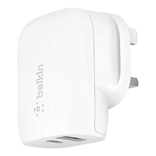 Belkin USB-C Wall Charger 32W (Fast Charger for iPhone 12, 12 Pro, 12 Pro Max, 12 mini, 11, 11 Pro/Pro Max, XS, XS Max, XR, X, SE, 8, 8 Plus, iPad Air 2020, iPad 8th gen, iPad Pro)