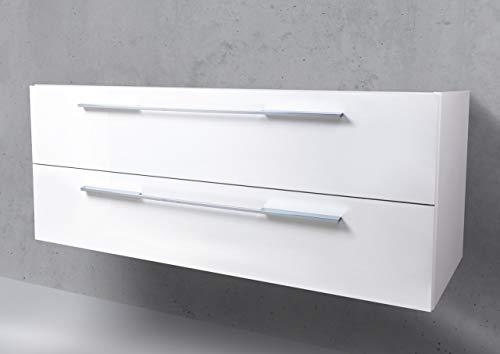 Intarbad ~ Unterschrank zu Villeroy & Boch Subway (Omnia Architektura) Doppelwaschbecken 130 cm Grau Matt Lack