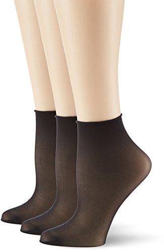 Hudson Damen Simply 20 3er-Pack Socken, 15 DEN, Schwarz (Black 0005), (Herstellergröße: 35/38)
