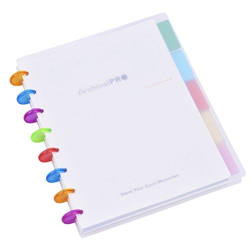 Rancco Academic planner notebook, 21,1x 16,5cm a righe, diario personale/settimanale/mensile organizer combinazione file Notepad W/pagina divisori, 80pagine