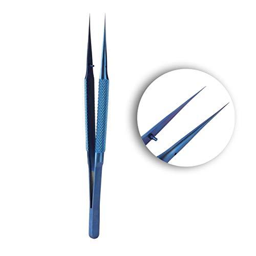 Pinzette per telefoni di precisione, pinzette per microscopio per riparazione cavi per impronte digitali della scheda madre del telefono cellulare in lega Ti, punte da 0,15 mm(Pointed Tweezer)