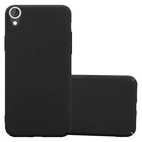Cadorabo Hülle für HTC Desire 820 - Hülle in Frosty SCHWARZ – Hardcase Handyhülle im matten Frosty Design - Schutzhülle Bumper Back Case Cover