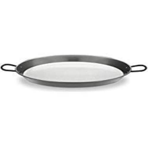 Polished Steel Valencian paella pan 12 Inch (30cm) 4 Servings