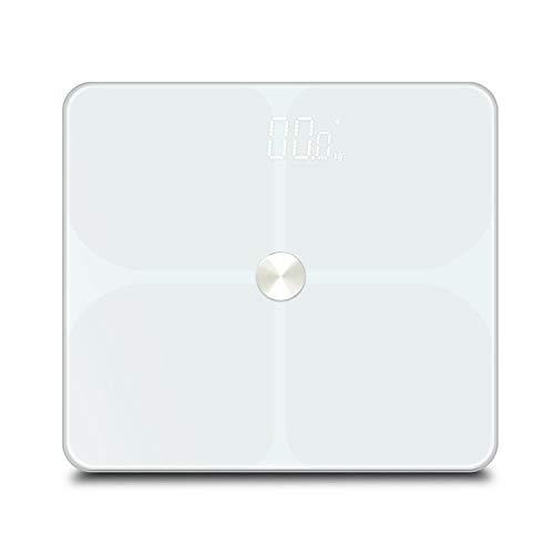 Elektronische Smart Scale Smart Badezimmer Waage Boden Menschliches Gewicht Mi Körperzusammensetzung Fettwaage Home Gewichtsbalance Bluetooch Haushaltsgewichtung Weiß