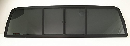 NAGD Rear Sliding Window Glass 4 Panel Back Slider Compatible with Ford Ranger Pickup/Mazda B2300 B3000 B4000 Pickup 2 Door Standard Cab 1986-1997 Models