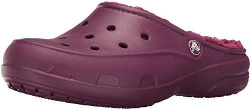 Crocs Freesail Plushlined Clog - Zuecos para Mujer, color Morado (Plum 504), talla  34/35 EU