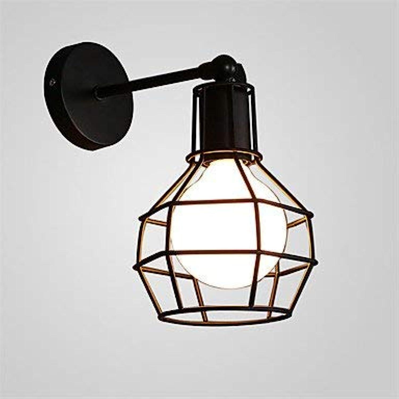 Vintage Simple schwarz Schmiedeeisen Birdcage Wandleuchte Wohn-   Esszimmer, Cafe Beleuchtung, 220V