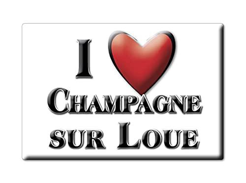 Enjoymagnets Champagne Sur LOUE (39) Souvenir IMANES DE Nevera Francia Haute Normandie IMAN Fridge Magnet Corazon I Love