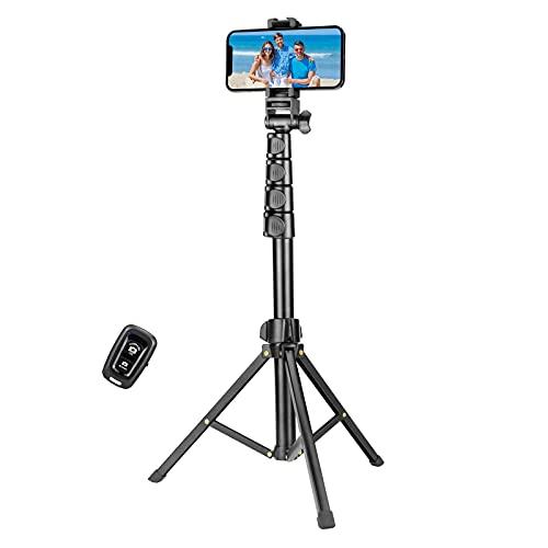 YOTOCversion 1.7 Meter/67 inch Phone Tripod Stand & Bluetooth Selfie Stick...