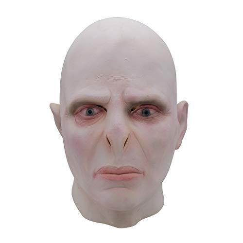 JGBHPNYX Lord Voldemort Máscara De Látex Cosplay Mascarada Máscaras Disfraz De Halloween