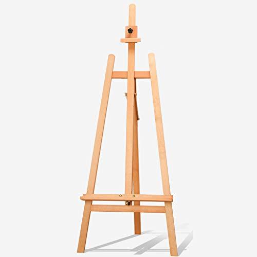 MKJYDM Caballete de Pintura al óleo de Madera Maciza 1.5M Tipo de elevación Grande Adecuado para 4k Tablero de Dibujo de Adultos multifunción boceto Pintura al óleo Soporte Caballete (Color : A)