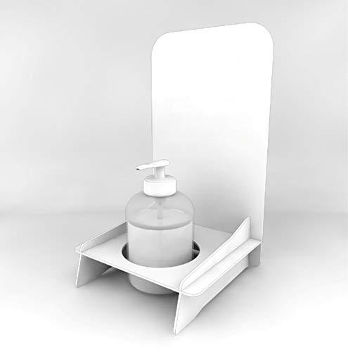 Espositore da Banco Gel igienizzante Mani piantana per Porta Dispenser Manuale (Senza Stampa - Neutro)