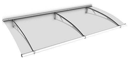 Schulte deurluifel LT-Line, 190 x 95 cm, helder getoogd Acrylglas, Edelstaal wit, V1019-10-04