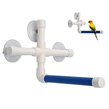NA Perchoir de bain pour perroquet - Support de douche portable avec ventouse en plastique - Support pour perroquet