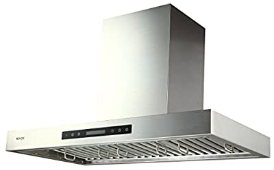 EKON Wall Mounted Kitchen Range Hood/Touch Panel Control With Remote And LCD Display / 2 Pcs 3W Led Lamp /900 CFM
