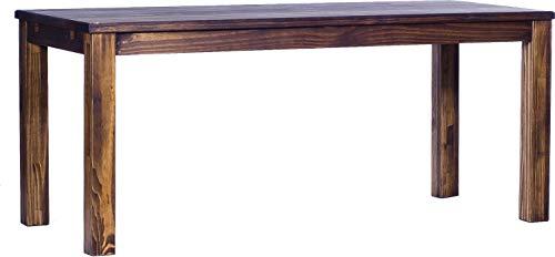 Brasilmöbel Esstisch Rio Classico 180x80 cm Eiche antik Massivholz Pinie Holz Esszimmertisch Echtholz Größe und Farbe wählbar ausziehbar vorgerichtet für Ansteckplatten