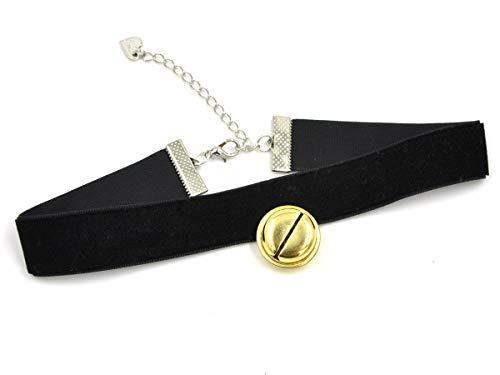CoolChange Lolita Glöckchen Halskette, Schwarz