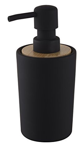 Joli mer Debout Collection Uni Design Distributeur de Savon, Noir, 7,5 x 8,5 x 16,5 cm