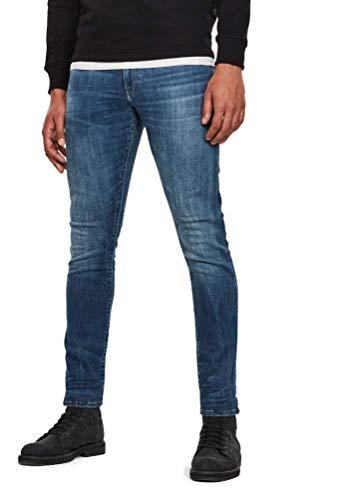 G-STAR RAW Homme Jean 3301 Deconstructed Super Slim w33 L30 Bleu