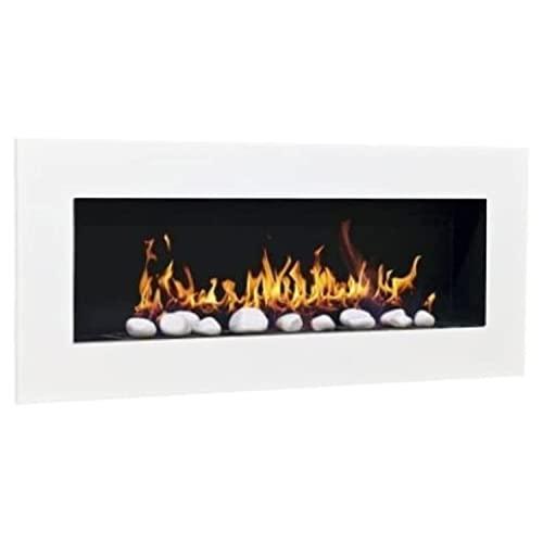 Don Fuego XXL Chimenea de bioetanol con 24 piedras decorativas