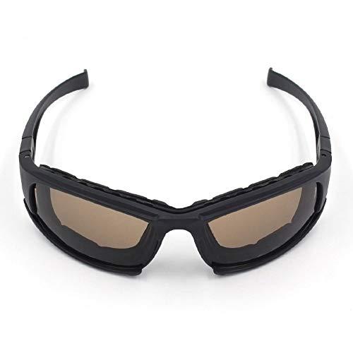 YUI Military Tactical Schutzbrille Armee Wind Proof UV Schutz Helm Schutzbrille mit 3 Farben austauschbar Objektiv für Motorrad Radfahren Airsoft Paintball Planspiel Shooting Jagd