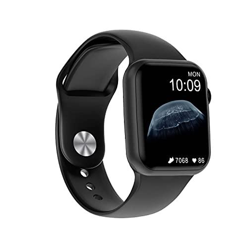 Smartwatch Uomo Donna,Orologio Sportivo Bluetooth,Fitness Tracker 1,75   Full Touch con Cardiofrequenzimetro Contapassi Salute Notifiche Impermeabile IP68 Android iOS(Nero)
