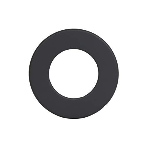 LANZZAS Ofenrohr Wand-Rosette mit 50 mm Rand - für den Durchmesser Ø 120 mm - Farbe: schwarz - Rauchrohr Wandabdeckung