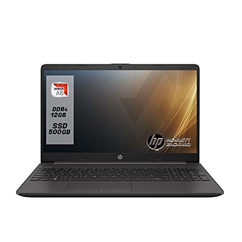 Notebook PC portatile HP 255 G8 display 15.6 ,preconfigurato con Cpu Amd A6 3050U, fino a 3,20 GHz Burst Mode Ram 12 GB DDR4 , SSD m.2 500GB NVMe, Bluetooth, WIFI,[Layout Italiano] Windows 10 Pro