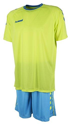 Hummel Unisex Trikot-Set Essential, Green Glow/Scuba Blue, M, 06-095-6729
