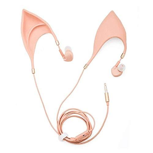 ZengBuks Nette Elf Form Kopfhörer Rauschunterdrückung In-Ears Design Universal Wired Drive-by-Draht Kopfhörer Ohrmuschel Eingebautes Mikrofon