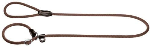 HUNTER Freestyle Retrieverleine, integrierter Halsung, robust, wetterfest, 1,0/120 cm, braun