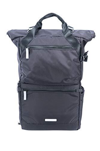 Mochila para una cámara, 2-3 objetivos, tablet y accesorios, color negro