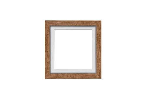 3D Deep Box Frame Range Bilder-/Foto-/Posterrahmen mit maßgeschneiderter Halterung – mit einer MDF-Rückwand – Eichenrahmen mit weißer maßgeschneiderter Halterung – 35,6 x 27,9 cm für A4-Bilder