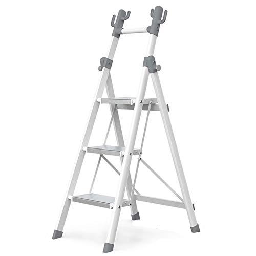 WHOJA Escalerilla Escalera de 3/4 escalones con pasamanos de Seguridad Plegable Escalera de Abrigo Multifuncional Ideal para hogar/Cocina/Garaje Ligera y Resistente (Size : 3 Step Ladder)