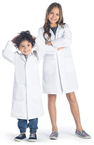 Dr. James Bata de Laboratorio Unisex para Niños con Botones a Presión (8-10 años)