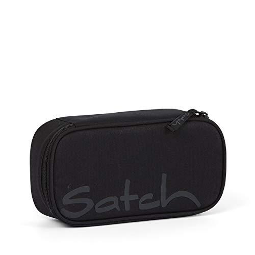 Satch Schlamperbox - Mäppchen groß, Trennfach, Geodreieck - Blackjack - Black