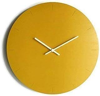 42cm Grande orologio da muro in legno tondo silenzioso colorato come giallo banana Particolari orologi a parete analogici ...
