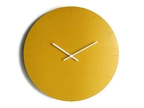 Diametro 40 cm grande orologio da parete tondo silenzioso colorato come giallo banana Particolari orologi a muro analogici con meccanismo al quarzo senza ticchettio Design moderno ed originale