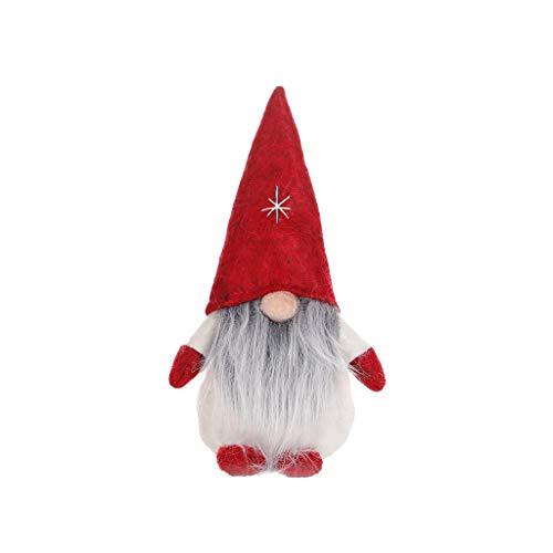 Dasongff schwedische Wichtel Santa Dolls süße Weihnachten Tomte Nisse Figur aus Weihnachtsfigur Dwarf schöneren Weihnachts Deko für Home Schaufenster Kinder Geburtstag Weihnachten (N, 1 PC)