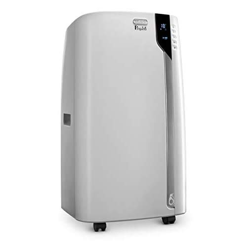 De'Longhi 12000 BTU Portable Air Conditioner, Dehumidifier & Fan + Cool Surround Remote w/Built-in Temperature Control Sensor &Quiet Mode, 500 sq ft, Large Room, Pinguino6800 BTU (DOE), White