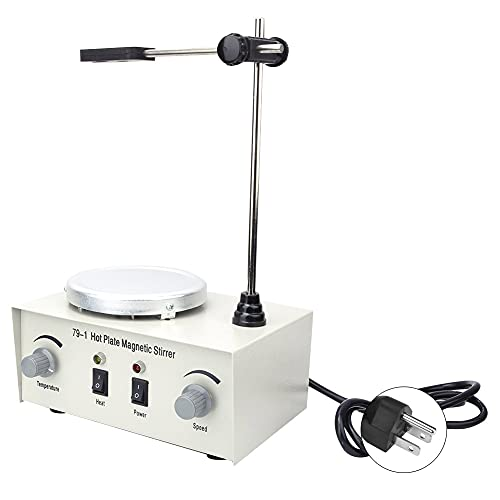 Magnetic Mixer, Magnetic Stirrer Mixer Machine Lab Magnetic Stirrer Electric Magnetic Stirrer Professional for Experimental Analysis with DC Motor(#1)