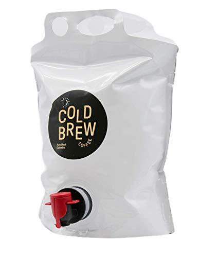 3 Liter Good Spirits Bio Cold Brew Coffee Pure Black Colombia Kaffee Kaltgetränk aus Spezialitätenkaffee Stand Up Pouch mit Zapfhahn für lange Haltbarkeit und Geschmack