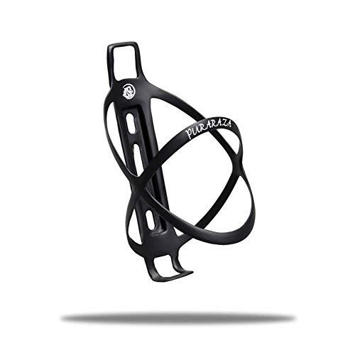 PURARAZA Carbon Flaschenhalter Fahrrad Wasserflaschenhalter, leicht und stark Flaschenhalter für Fahrrad Mountainbike 20g Schwarz