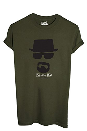 MUSH T-Shirt Heisenberg Breaking Bad - Serie TV by Dress Your Style - Uomo-L-Verde Militare