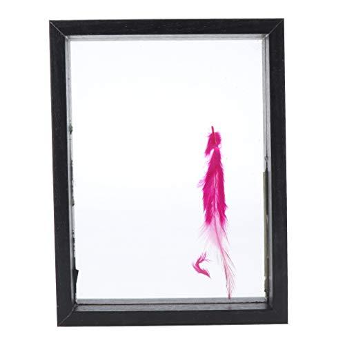 chiwanji Cadre de Photo Bricolage Massif 3D Composite - 14x18x4cm - Noir, 14x18x4cm