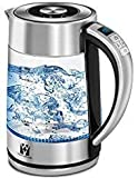 Vestaware Glass Electric Kettle,1.5L Electric Kettle-LED Display/Digital Variable Temperature Control/Keep-Warm Function, Hot Water Kettle with Auto Shut-Off and Boil-Dry Protection